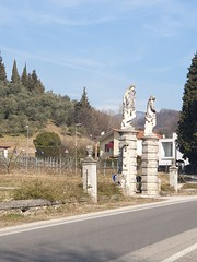 Italian Road Trip - February 2019 (sean and nina) Tags: italy italia italian road trip february feb 2019 eu europe european blue sky scenery tarmac highway mountains alps alpes clouds white lines houses buildings country countryside rural isolated remote north northern