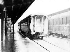 Two Lonely Railcars (brucekester@sbcglobal.net) Tags: orientexpress vienna belgrade sofia athens zenite 35mm filmcamera