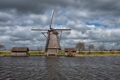 Windmill, Kinderdijk (Jeremy Brooks) Tags: clouds holland kinderdijk netherlands netherlandsbelgium2018 camera:make=fuji camera:make=fujifilm camera:model=xpro2 windmill