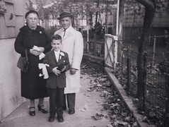 Bronx Communion, 1959 (explore) (Robert Barone) Tags: 1950s 1959 bronx caterinavelardo italianamerican nyc newyorkcity pasqualedisisto robert robertbarone fotodepoca grandfather grandmother grandparents thebronx vintage blackandwhite explore
