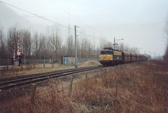 Copy Oldbox Photo ! Locomotive NS 1142 Dutch Railways with Lime Train at Beverwijk area the Netherlands ! (Treinemanke) Tags: ns 1142 oldbox photo limetrain