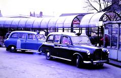 Slide 133-04 (Steve Guess) Tags: merthyrtydfil wales gb uk bus austin fx4 taxi taxibus xhm603t