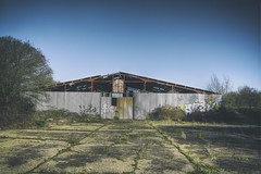 YOLO Barn (Exterior) (nigdawphotography) Tags: derelict barn grafiti corrugatediron urbex gernonbushes coopersale essex exterior