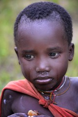 Suri Child (Rod Waddington) Tags: africa african afrique afrika äthiopien ethiopia ethiopian ethnic ethnicity etiopia ethiopie etiopian minority culture cultural omovalley outdoor omo omoriver suri tribe traditional tribal child candid girl portrait people