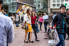 Two Friends, Two Smiles, Two Times The Fun (burnt dirt) Tags: asian japan tokyo shibuya station streetphotography documentary candid portrait fujifilm xt1 bw blackandwhite laugh smile cute sexy latina young girl woman japanese korean thai dress skirt shorts jeans jacket leather pants boots heels stilettos bra stockings tights yogapants leggings couple lovers friends longhair shorthair ponytail cellphone glasses sunglasses blonde brunette redhead tattoo model train bus busstation metro city town downtown sidewalk pretty beautiful selfie fashion pregnant sweater people person costume cosplay boobs