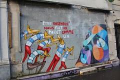 Selor + AlberOner_1582 rue Sorbier Paris 20 (meuh1246) Tags: streetart paris paris20 selor alberoner ruesorbier chien animaux