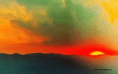AFTER THE TEMPEST. (Viktor Manuel 990.) Tags: sunset atardecer calm calma sky cielo sol sun brightcolors coloresbrillantes digitalpainting pinturadigital querétaro méxico victormanuelgómezg