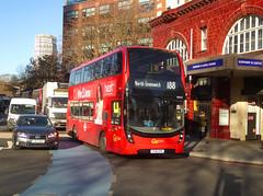GAL EH222 - YX18KPN - ELEPHANT & CASTLE - THU 17TH JAN 2019 (Bexleybus) Tags: ec elephant and castle underground station london road newington causeway goahead go ahead adl dennis enviro 400 mmc tfl route hybrid 188 eh222 yx18kpn