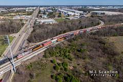 BNSF 637 | GE C44-9W | BNSF Tennessee Yard (M.J. Scanlon) Tags: atsf637 atchisontopekasantafe bnsf1809 bnsf637 bnsftennesseeyard business c449w capture cargo commerce dji digital drone emd engine freight ge horsepower ln ln1208 landscape locomotive logistics louisvillenashville mjscanlon mjscanlonphotography mavik2 mavik2zoom memphis merchandise mojo move outdoor outdoors photograph photographer picture quadcopter rail railfan railfanning railroad railroader railway sd38p santafe scanlon super tennessee track train trains transport transportation warbonnet wow ©mjscanlon ©mjscanlonphotography