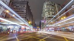 Nighttime traffic (Bram de Jong) Tags: cityscape streetphotography street traffic lighttrails hongkong kowloon nathanroad asiafavorites happyplanet longexposure night nikond500 ngc tripadvisor travel asia tohouhotel doubledecker