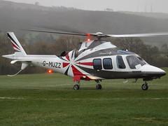 G-MUZZ AgustaWestland AW109SP GrandNew Helicopter (Saxonair Charter Ltd) (Aircaft @ Gloucestershire Airport By James) Tags: cheltenham helipad gmuzz agustawestland aw109sp grandnew helicopter saxonair charter ltd egbc james lloyds