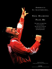 "Neil Diamond 1994 ad for ""Play Me"" single from Live in America album (musicloverdiamond) Tags: liveinamerica concert album ad magazine 1994 playme neildiamond"