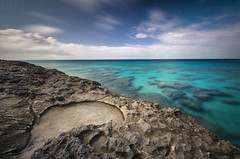Turks and Caicos Amanyara Ocean Edge (Russell Eck) Tags: turks caicos amanyara daylight long exposure longexposure ocean edge caribbean travel international russell eck nature landscape wilderness sky rock color nikon d5100 neutral density filter polarizer