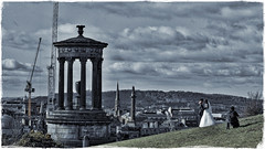 The Wedding Shooter (FotoFling Scotland) Tags: bride caltonhill cranes edinburgh groom wedding