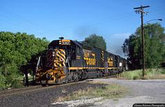 Skyline Coal Train (jamesbelmont) Tags: riogrande drgw sd40t2 emd tunnelmotor coal springville utah atsnc railway