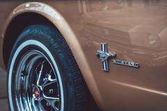 I'm Legend.. (u c c r o w) Tags: design detail oldtimer ford wheel rim logo auto car reflection metallic legend automobile 1967 beauty beautiful classic berlin remise germany deutschland mustang vinta vintage brown 1965