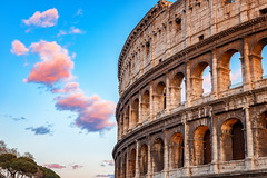 Roma (projetocriativorn) Tags: tourism antique dusk brick arch illuminated roman large history blue ancient old italianculture famousplace above architecture outdoors coliseum italy europe sunset sky fog amphitheater monument oldruin builtstructure cityscape