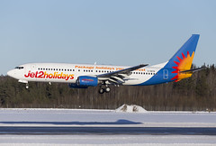 G-DRTB Arlanda 2019 (martindjupenstrom) Tags: friendlylowfares jet2airways jet2 737ng boeing737800 boeing arlanda winter airplane jet airliner airport arlandaairport winterwonderland runway landing heavy aircraft jet2holidays