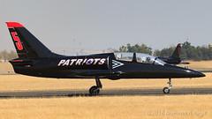 The Patriots Jet Team (Norman Graf) Tags: aircraft n539rf airplane l39c aero patriotsjetteam airshow aerobatics 2017californiacapitalairshow l39 aerol39albatros albatros fryscom hotlineconstruction jet patriots5 plane trainer