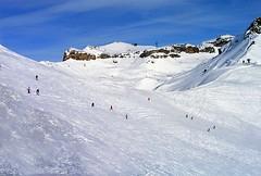 Crans-Montana, Switzerland (jamesalexandermichie) Tags: snow skiing cransmontana swiss switzerland winter landscape snowcapped snowy ski skier sky blue white cold