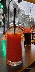 Happy hours #ParisXVe #Parisianlife #citylife #bloodymary #cocktail #happyhours you can spot the #eiffeltower in the background on the right side #gloriettecafe #greenlight #reddrink #cocacola (isabella.cabre) Tags: reddrink eiffeltower cocktail happyhours cocacola citylife bloodymary greenlight parisianlife parisxve gloriettecafe