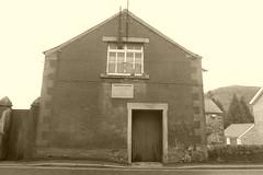 Newburgh Hall, Bradwell, Derbyshire (dave_attrill) Tags: newburghhall bradwell derbyshire peakdistrict nationalpark hopevalley village historic street cottages february 2019 winter sepia monochrome