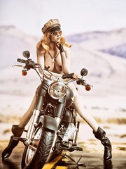 Heavens Angels 3 (Mr Action Figure) Tags: 16 16scale phicen tbleague seamless seamlessfigure female femalefigure blonde biker harleydavidson motorcycle hat boots leather chrome desert sunglasses nude topless ammobelt hottoys verycooltoys doll toy sexy
