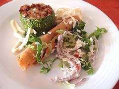 Stuffed Zucchini (knightbefore_99) Tags: mexico mexican awesome huatulco tangolunda azul oaxaca tropical best nice stuffed zucchini breakfast deep fried taco tasty art fantastic