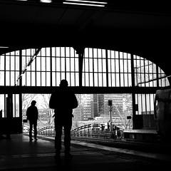 Behind the man (pascalcolin1) Tags: paris homme man métro subway lumière light ombre shadow photoderue streetview urbanarte noiretblanc blackandwhite photopascalcolin 50mm canon50mm canon