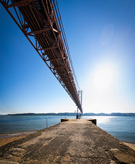 Lisbon, December 30, 2018 (Ulf Bodin) Tags: canonef1635mmf4lisusm ponte25deabril bro lisboa vertorama bridge lissabon architecture outdoor lisbon canoneosr 25deabrilbridge portugal setúbal pt