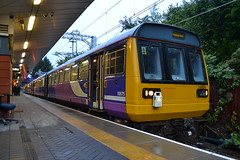 Northern Pacer 142034 (Will Swain) Tags: station 20th september 2018 greater manchester city centre north west train trains rail railway railways transport travel uk britain vehicle vehicles england english europe salford crescent northern pacer 142034 class 142 034