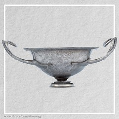 Ancient Silver Kylix Cup from the Vassil Bojkov Collection (thracefoundation) Tags: ancient art vassilbojkovcollection mythology thrace ancienthistory artifact artefact history thracefoundation ancientgreece kylix kylixcup