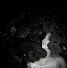 breath (sylwiana) Tags: blackandwhite bnw bnwphoto bnwphotography bnwportrait leaves darkness portrait portraitphotography sonya7 sigma50
