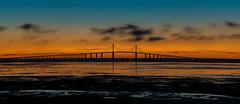 Skyway Sunrise (ap0013) Tags: sunrise bridge water landscape florida tampabay sunshineskyway sun sunset stpetersburg skyway sunshine tampa fl flavor fortdespot park