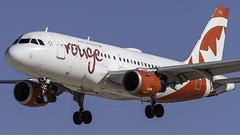 C-FYIY_LAS_Landing_26L_Head (MAB757200) Tags: aircanadarouge a319114 cfyiy aircraft airplane airlines airbus airport jetliner landing las klas mccarran runway26l