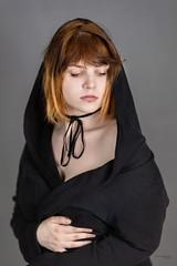 Michalina (piotr_szymanek) Tags: michanlina woman young face portrait studio hood hand redhead 1k 20f 5k 10k