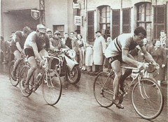 Louison Bobet and Fausto Coppi 1955 Paris Roubaix (ddsiple) Tags: 1955 louisonbobet faustocoppi cycling