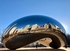 Bean (F.Cunha) Tags: america américa iphone reflexo reflex eua usa chicago bean
