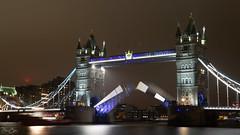 Lowering the roadway... (Dan Elms Photography) Tags: towerbridge london bridge tug riverthames thames lights night nightshoot longexposure evening dark canon 5dmkiii canon5dmkiii capital capitalcity england uk explore flickrexplore inexplore