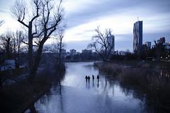Frozen (CoolMcFlash) Tags: frozen winter cold water lake vienna city people dc tower kaiserwasser alte donau canon eos 60d gefroren kalt wasser see wien stadt personen fotografie photography sigma 1020mm 35 silhouette kontur blue blau