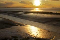 Waarde (Omroep Zeeland) Tags: getijdenhaventje waarde eb laag water geul vaargeul westerschelde zonsondergang scheepvaart