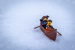 Canoeing in the snow (Ballou34) Tags: 2019 7dmark2 7dmarkii 7d2 7dii afol ballou34 canon canon7dmarkii canon7dii eos eos7dmarkii eos7d2 eos7dii flickr lego legographer legography minifigures photography stuckinplastic toy toyphotography toys stuck in plastic canoe snow winter cold white movie emmet lucy wildstyle