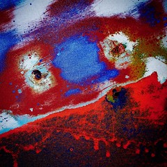 Red White and Blue (StephenReed) Tags: redwhiteandblue abstract art abstractart metal paint chippedpaint rust colors squareformat nikond3300 stephenreed