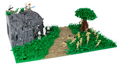 LEGO Star Wars | Clone Base on Alderaan MOC {02} (CreBrix) Tags: lego star wars moc crebrix clones clone trooper phase 2 battle attack base alderaan alderan tree leaves plants mountain rockwork