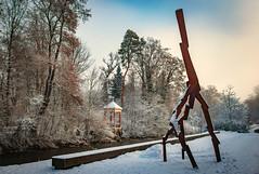 David Nash, Lightning Strike (HeinzDS) Tags: david nash art sculpture donaueschingen artplus museum kunst winter snow blue sky