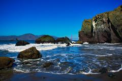 Mile Rock Beach (mgschiavon) Tags: beach nature landscape blue sky water sea california sanfrancisco sanfranciscobay
