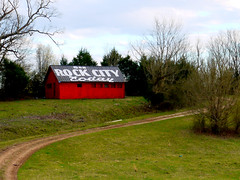 Rock City Barn--Jasper, Tennessee (M R Stephens) Tags: appalachia redbarn barn seerockcity chattanooga easttennessee evening jaspertn marioncountytennessee sequatchievalley tennessee