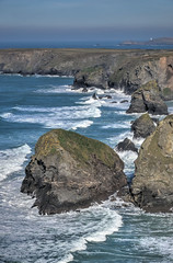 Bedruthan Steps, North Cornwall (Baz Richardson) Tags: cornwall northcornwall coast cliffs surf bedruthansteps trevosehead