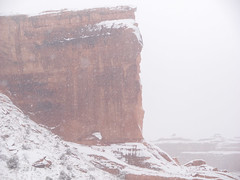 Baby Arch Snowstorm (xjblue) Tags: 2018 newyearsweekend southernutah utah canyon canyonlands cold desert governmentshutdown sandstone snow trip winter archesnationalpark naturalarch natural span