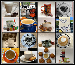 2019 Sydney collage: Coffee Cups #11 (dominotic) Tags: 2019 coffeeobsession coffeetop food drink muffin gummybears confectionery coffeebeans chocolate foodphotography yᑌᗰᗰy coffeecupscollage coffeecups coffeemugs coffeeandcupsaucer sydney australia